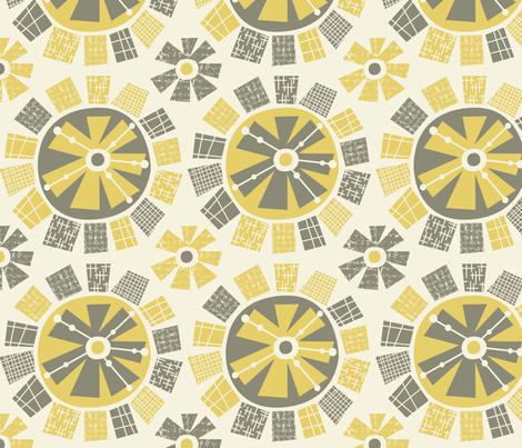 Mod Flower fabric by amel24 on Spoonflower - custom fabric