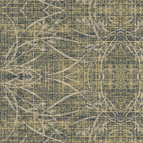 wild grasses - putty, blue slate, white fabric by materialsgirl on Spoonflower - custom fabric