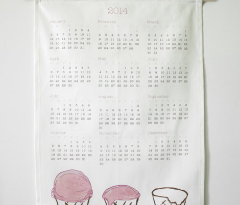 2014 Ice Cream Calendar