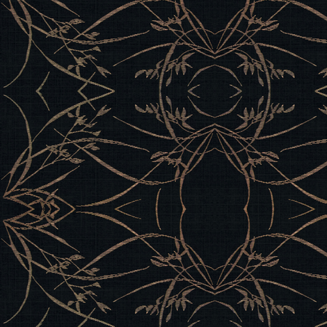 wild grasses - black and beige fabric by materialsgirl on Spoonflower - custom fabric