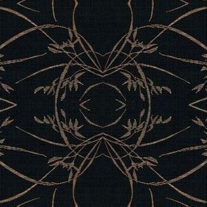 wild grasses - black and beige