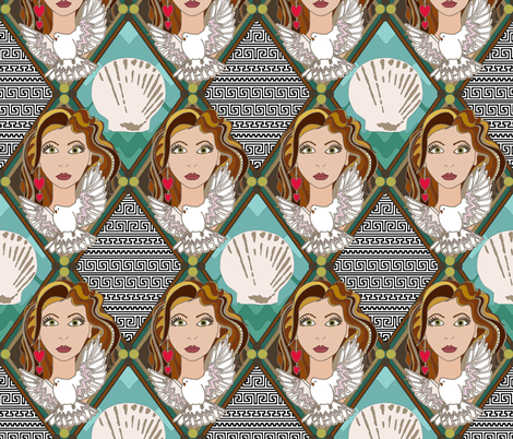 Aphrodite Goddess of Love fabric by scrummy on Spoonflower - custom fabric