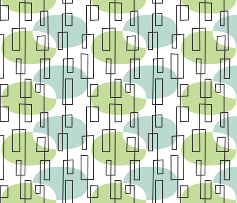 MidMod fabric by melhales on Spoonflower - custom fabric
