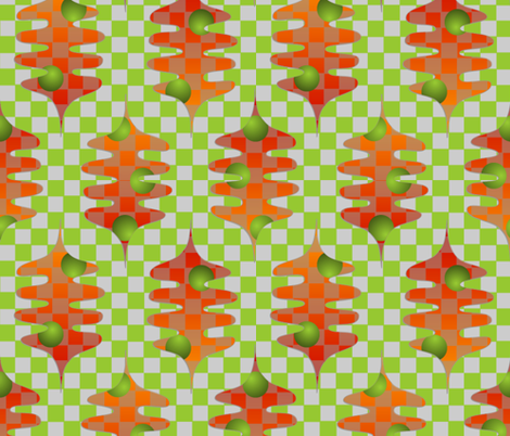 checker leaves fabric by glimmericks on Spoonflower - custom fabric