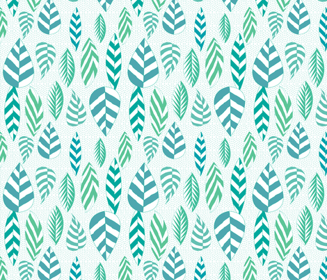 Sky to Earth Leaves fabric by sandeehjorth on Spoonflower - custom fabric