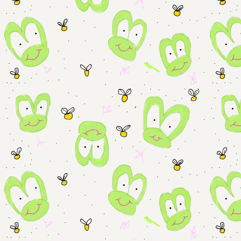 Friendly Frogs fabric by staceyoverseas on Spoonflower - custom fabric