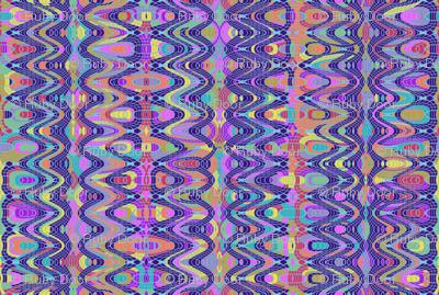 Blue Stripe Spirograph