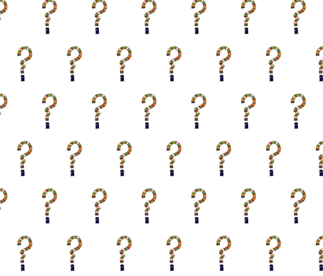 The_Question fabric by offtheartboard on Spoonflower - custom fabric