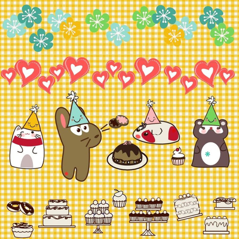 kato bday_mini fabric by kato_kato on Spoonflower - custom fabric