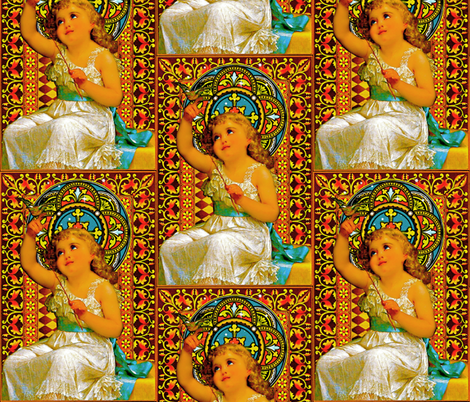 Goddess In Training fabric by whimzwhirled on Spoonflower - custom fabric