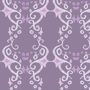 Purple Swirly and Dots