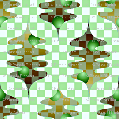checker leaves green