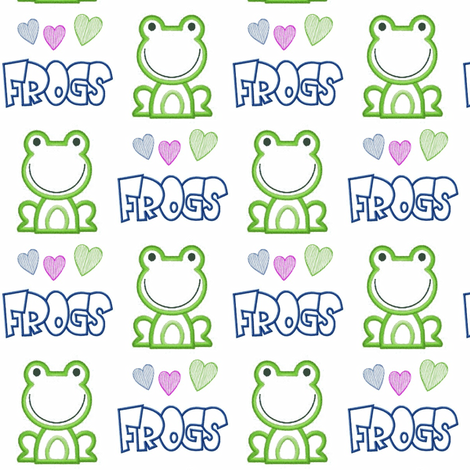 Who Doesn't LOVE Frogs fabric by dsa_designs on Spoonflower - custom fabric