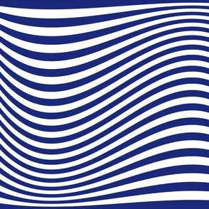 Waving Bars Blue