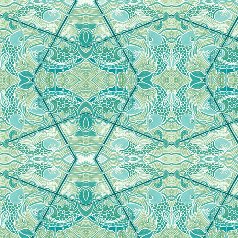 Pisces In the Stormy Sea fabric by edsel2084 on Spoonflower - custom fabric