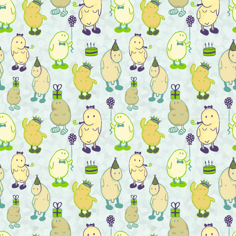 partybeans fabric by jollydrop on Spoonflower - custom fabric