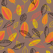Retro Orange and Yellow Leaves