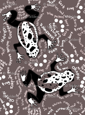 Blue Poison Dart Frog - Brown - Small