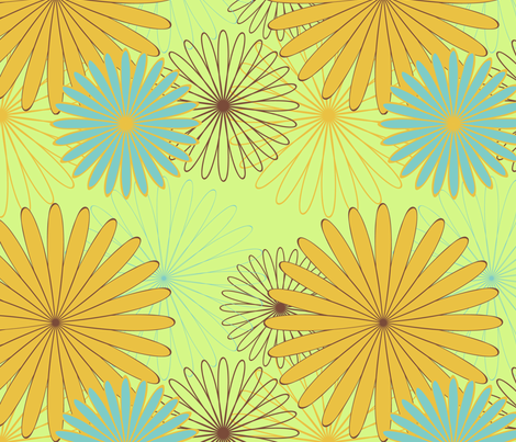 floral fabric by kittenstitches on Spoonflower - custom fabric