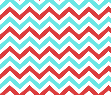 Ziggy Coral Aqua fabric by natitys on Spoonflower - custom fabric