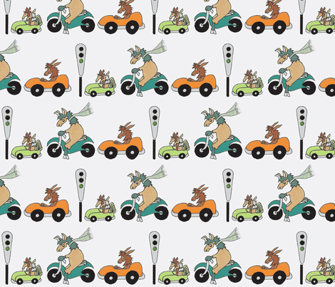 Go Llamas Go in White fabric by kbexquisites on Spoonflower - custom fabric