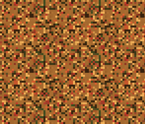 Brown and Gold Pixellated Check © Gingezel™ 2013
