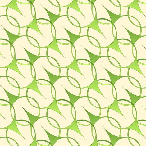 Leaves  Blow - cream ground fabric by glimmericks on Spoonflower - custom fabric