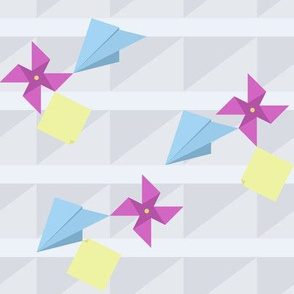 Paper Planes, Pinwheels, & Post-its