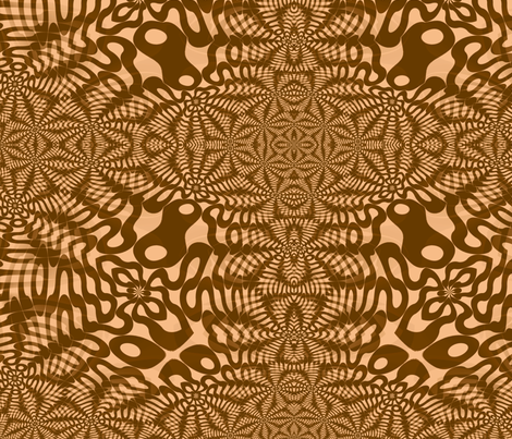 Brown Wigglies fabric by telden on Spoonflower - custom fabric