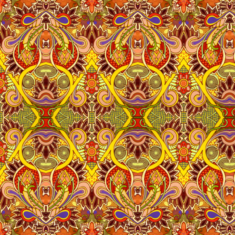 His Royal Saffron Majesty of India fabric by edsel2084 on Spoonflower - custom fabric