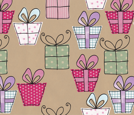 presents fabric by wheezlebee on Spoonflower - custom fabric