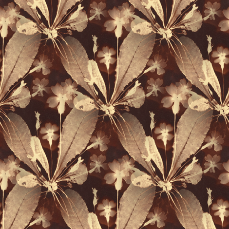 Botany Sepia fabric by telden on Spoonflower - custom fabric