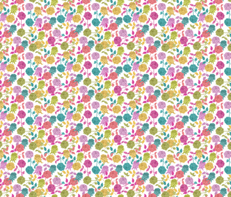 ROSES (white) fabric by biancagreen on Spoonflower - custom fabric