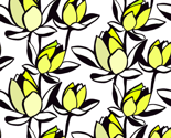 Waterlily_repeat_halfdrop_chartruese_25x25_thumb