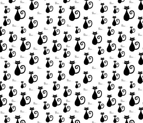black_cat_prrr_ fabric by freespirit2012 on Spoonflower - custom fabric