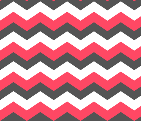 Chevron Grey Pink fabric by natitys on Spoonflower - custom fabric