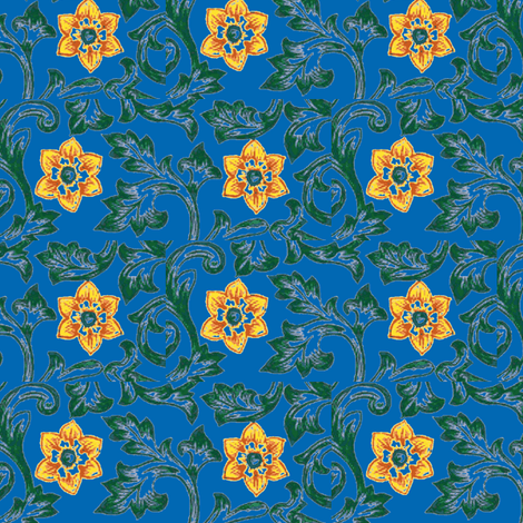 Daffodils fabric by amyvail on Spoonflower - custom fabric