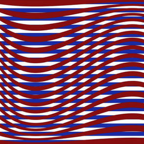 Waving Bars Red White and Blue
