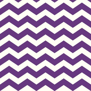 Cream/Purple Chevron