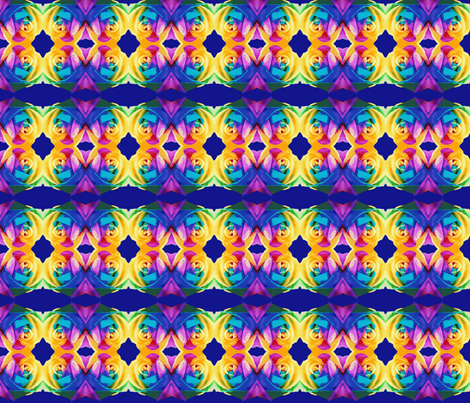 Rainbow Rose fabric by robin_rice on Spoonflower - custom fabric