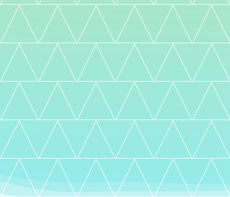 mint heaven triangle fabric by pencilmein on Spoonflower - custom fabric