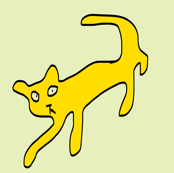 Sneaky Cats -yellow