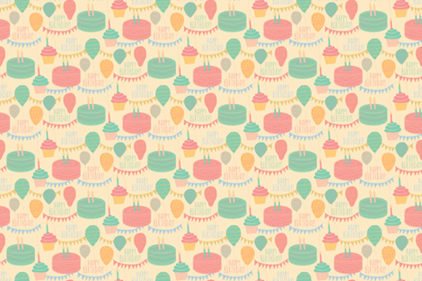 BIRTHDAY fabric by jrease on Spoonflower - custom fabric