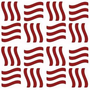 Waving Bars Red 3