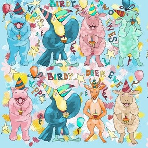 Hippo Birdy means Happy Birthday