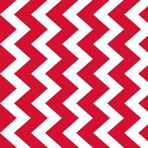 Chevron in coral berry large