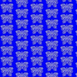 ButterflyFlutterby - med  - true blue reverse