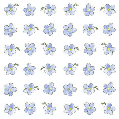 Blue Flower Dot