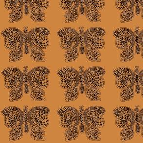 ButterflyFlutterby - Lg -  peru brown