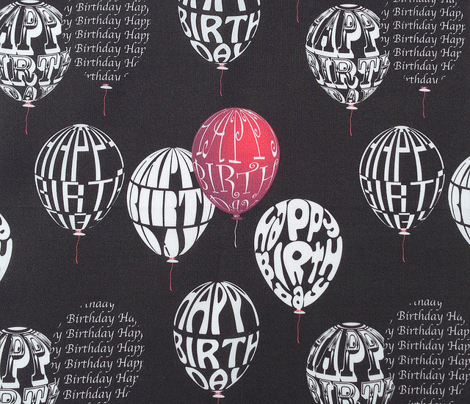 Happy Balloons Black&Red